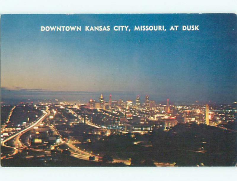 Pre-1980 AERIAL VIEW OF TOWN Kansas City Missouri MO n3048