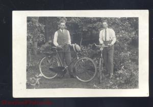 RPPC GERMANY GERMAN ANTIQUE BICYCLE BIKE BIKES VINTAGE REAL PHOTO POSTCARD