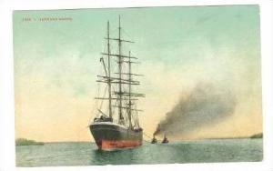 Clipper ship & Two Tugboats Outward Bound, 00-10s