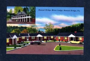 VA Natural Bridge Motor Lodge Motel VIRGINIA POSTCARD