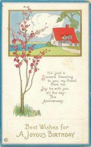 Sincere Happy Birthday greeting Postkarte