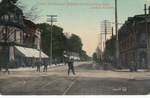 LONDON, Ontario, 1910 ; Corner Dundas & Adelaide Streets