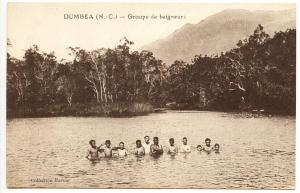 New Caledonia Dumbea Groupe de baigneurs Swimming Postcard