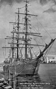 Chicago Illinois World's Fair Admiral Byrds Polar Ship Vintage Postcard JJ658851