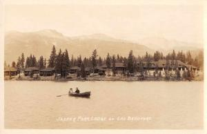 Jasper Canada Jasper Park Lodge Lac Beauvert Real Photo Antique Postcard J79254