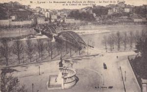 LYON, Rhone, France, 1900-1910's; Le Monument Des Enfants Du Rhone, Le Pont D...