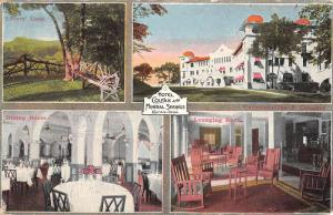 Colfax Iowa Hotel Mineral Springs Multiview Antique Postcard K83025