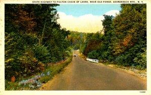 NY - Adirondacks, State Highway near Old Forge