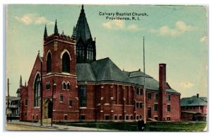 Early 1900s Calvary Baptist Church, Providence, RI Postcard