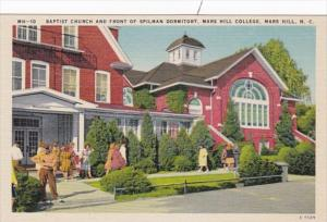 North Carolina Mars Hill Baptist Church and Front Of Spillman Dormitory Mars ...