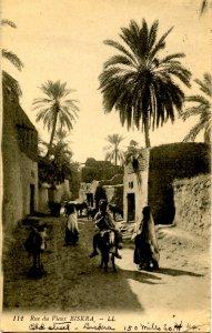 Egypt - Biskra. Street Scene