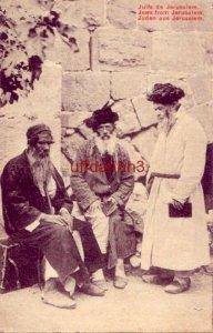 JUIFS DE JERUSALEM JEWS FROM JERUSALEM three men two seated, one standing