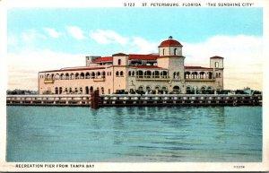 Florida St Petersburg Recreation Pier From Tampa Bay Curteich