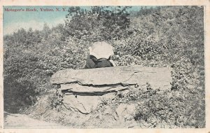 Metzger's Rock, Yulan, New York, Early Postcard, Used in 1919