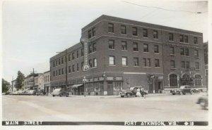 RP: FORT ATKINSON , Wisconsin, 1930-40s ; Main Street