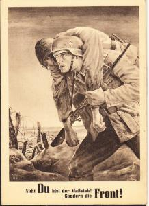German Soldier Carrying Wounded Comrade