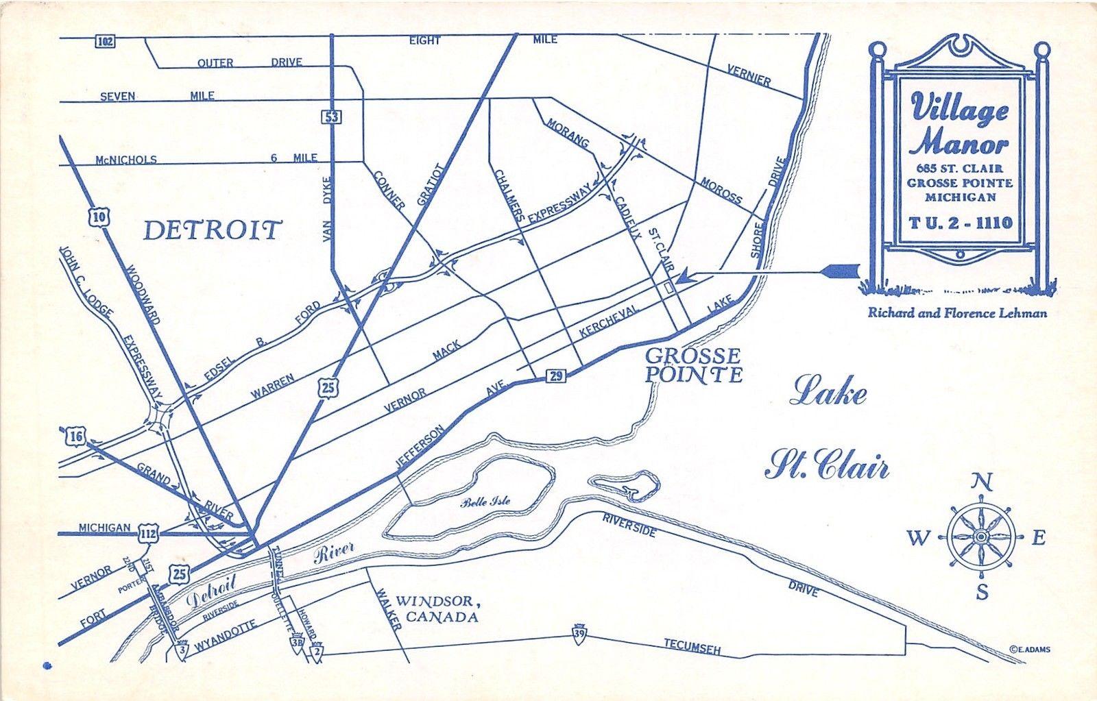 Grosse Point Michigan Map.Detroit Grosse Pointe Mi Village Manor 4 Views Restaurant Food Shop