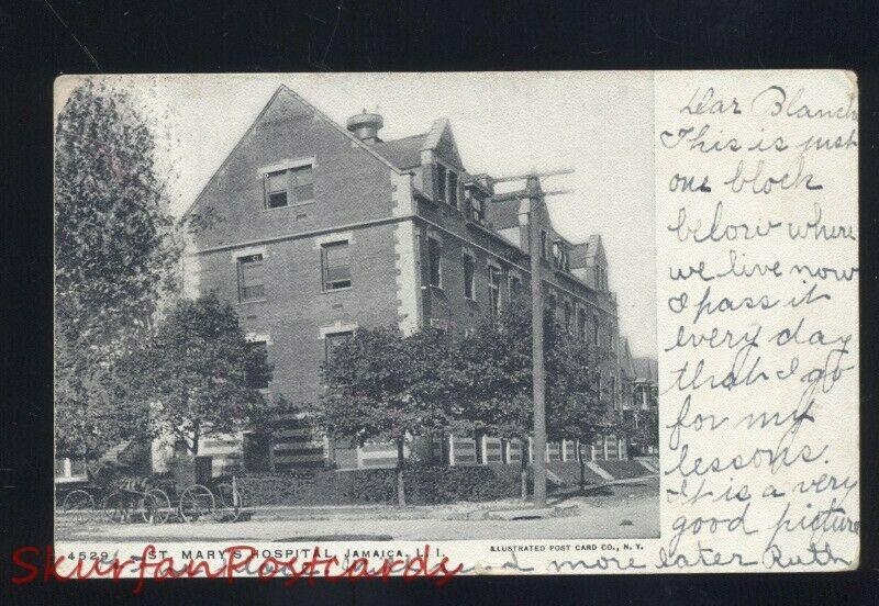 JAMAICA LONG ISLAND NEW YORK ST. MARY'S HOSPITAL ANTIQUE VINTAGE POSTCARD N.Y
