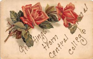 D90/ Danville Indiana In Greetings from Central Normal College Postcard c1910