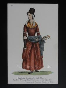Wales: Cambrian Costumes Welsh Girl in Costume of Cardigan No.Xl - Lady Llanover