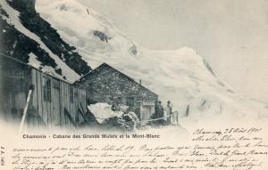 France Chamonix Cabane des Grands Mulets et le Mont Blanc 01.46