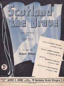 Scotland The Brave Robert Wilson Scottish Sheet Music