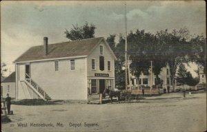 West Kennebunk ME Depot Square Store c1910 Postcard