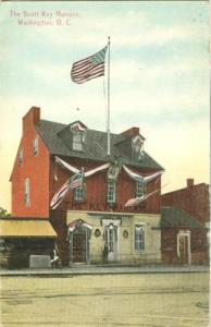 The Scott Key Mansion, Washington D.C. early 1900s unused...