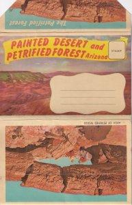 Postcard Folder PAINTED DESERT And PETRIFIED FOREST Arizona, 1900-1910s