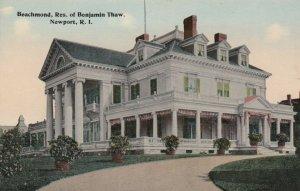 NEWPORT , Rhode Island , 1900-10s; Beachmond, Res. of Benjamin Thaw