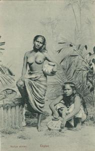 ceylon, Beautiful Native Nude Singhalese Women, Topless (1910s) Postcard