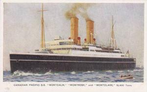 Canadian Pacific Oceanliners S.S. MONTCAM & MONTROSE & MONTCLARE 20-30s