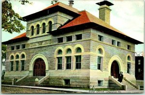 1910s LEWISTON Maine Postcard POST OFFICE Building / Street View Made in Germany