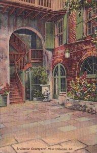 Brulatour Courtyard New Orleans Louisiana 1958