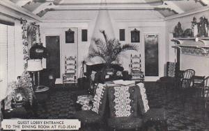 New York Port Jervis Flo-Jean Restaurant Guest Lobby Entrance To Dining Room ...