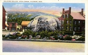 MA - Fitchburg, Upper Common. Rollstone Boulder