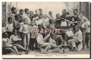 Postcard Old Missions & # 39Afrique singing class piano