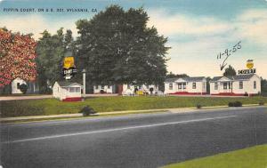 US Ga. Sylvania Pippin Court on US 301 1955