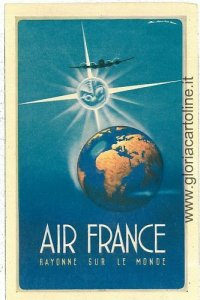 VINTAGE POSTCARD AVIATION: FRANCE - AIRFRANCE