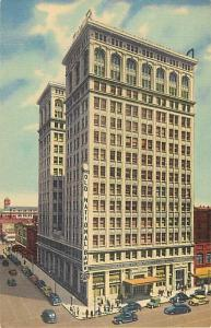 Linen View of Old National Bank Building Spokane Washington