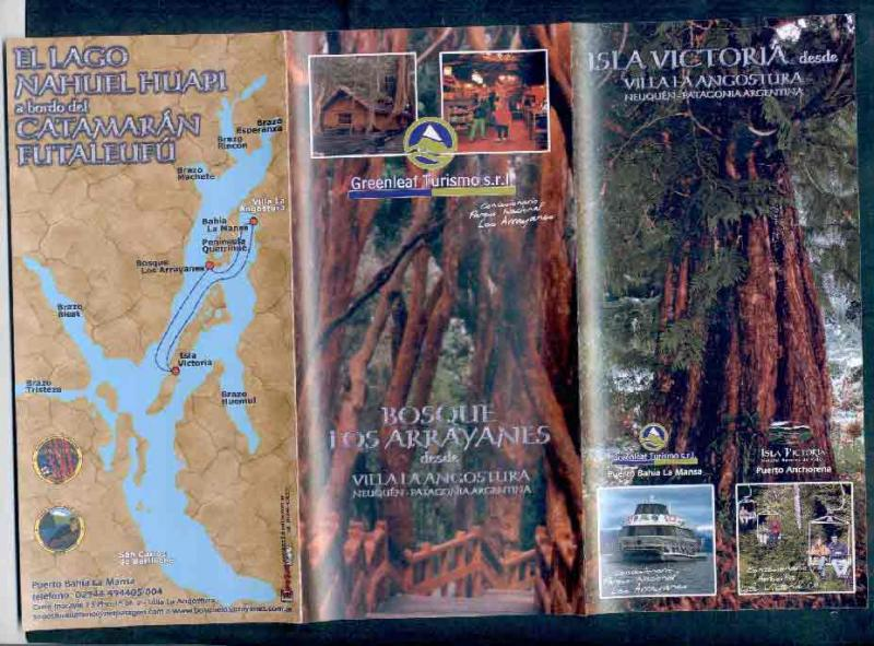 ARGENTINA 2 BROCHURES ISLA VENTURA MAP & MIRTLE FOREST