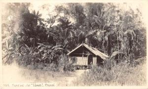 South America Small House Real Photo Antique Postcard J38900