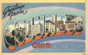 Columbus, Ohio, Usa Large Letter Town, Towns, Postcard Postcards  Columbus, O...