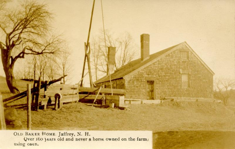 NH - Jaffrey. Old Baker Home.   *RPPC