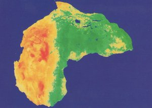 Africa From Outer Space Rare Astronomy Map Postcard
