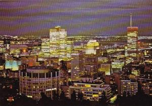 Canada  From The Top Of Mount Royal A Picturesque View Of Montreal At Night M...