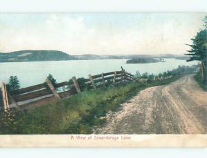 Pre1907 ROAD AT CANADARAGO LAKE Richfield Springs - Schuyler Lake NY Q1243