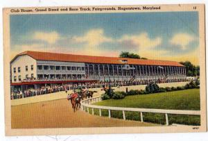 Club Hs, Grand Stand & Race Track, Fairgrounds, Hagerstown
