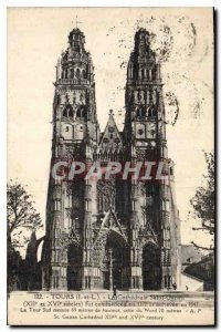 Postcard Old Towers I and L Cathedrale Saint Gatien XII and XVI centuries