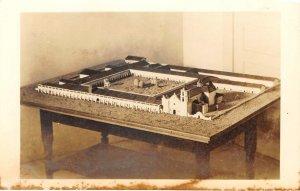 RPPC San Luis Rey Mission Miniature Model ca 1940s Vintage Postcard